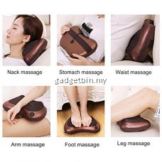 Gadgetbin 8 Roller Car Massage Home Massage Office Massage Roller Electronics Neck Back Legs Pillow Massager