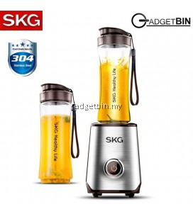 SKG 1818 Portable Multifunctional 304 Stainless Steel Blender Juicer Machine with 2 x Tritan Bottles