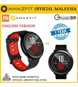 [OFFICIAL AMAZFIT MALAYSIA] Xiaomi Huami AMAZFIT PACE Bluetooth GPS IP67 Waterproof Sports Smart Watch (Black)