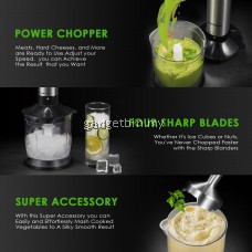 Aicook LB2109 Powerful 1000W 4 in 1 Ultra-Quick Smart Stepless Speed Immersion Hand Blender With 500ml Chopper Bowl 700ML Beaker - 2 Years Warranty
