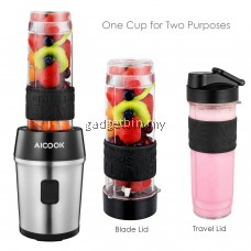 Aicook TB13SM Powerful 700W Personal Blender Chopper 2 in 1 , 1.2L Chopper Bowl , Juicer , Smoothhie maker , Tritan Bottle BPA FREE - 2 Years Warranty