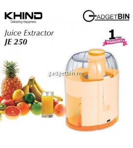 Khind JE250 Stainless Steel Shredder Juice Extractor Machine Juicer