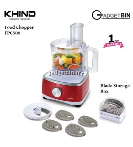 Khind FPC500 2-Speed Pulse Function Food Chopper With Blade Storage Box
