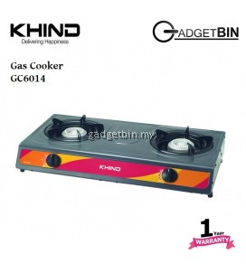 Khind GC6014 Double Burner Gas Stove Gas Cooker