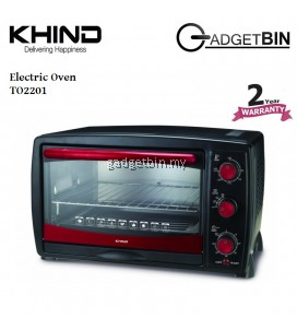Khind TO2201 Electric Oven 22L Large Baking Tray & Extended Capacity for Big Plates