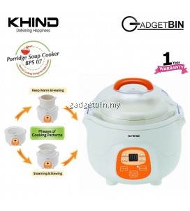 Khind BPS07 Ceramic Pot Baby Porridge Soup Cooker