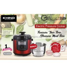 Khind PC6000 Programmable Pressure Cooker 6.0L Multi Cooker Slow Cooker
