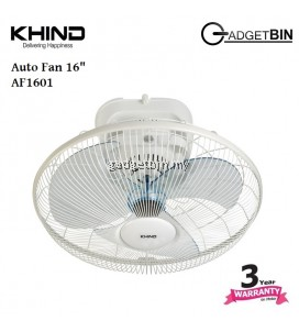 """KHIND AF1601 16"""" 360 Degree Rotation Auto Fan with 3 Speed Regulator"""