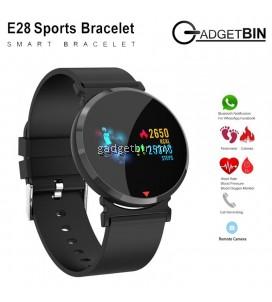 Gadgetbin E28 Heart Rate Blood Pressure Monitor Color Screen Activity Tracker Smart Watch