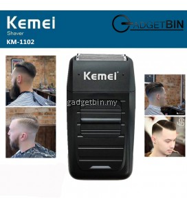 Kemei KM1102 Rechargeable Electric Dual Blades Floating Head Shaver Cordless Razor Machine For Shaving