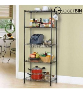 5 Tier Multifunctional Adjustable Steel Shelf Storage Rack