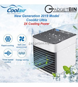 CoolAir Ultra New Arctic Air Personal Space Cooler Air Conditioner Humidifier 3 Speed LED Night Light Air Cooler Fan