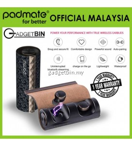 [OFFICIAL PADMATE MALAYSIA] Padmate PaMu Scroll T3 BT5.0 Earphones with Wireless Charging Adaptor