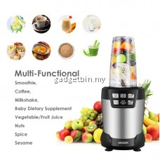 Aicook WBL003 AutoIQ Bullet Blender 1200W 24000RPM High Speed Professional Nutri Blender, Ninja, Shakes, Smoothies, Juices, Fruits, Nuts, Coffee Bean, Baby Food & Baby puree Blender with LED Smart One Touch and Large Tritan Travel Cups