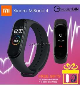 Original Xiaomi Miband 4 Miband4 Mi band 4 International English Version OLED COLOR SCREEN Heart Rate Monitor Fitness Smart band Miband3 Miband 3 Mi band 3 Upgrade (Black)