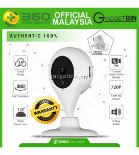 [OFFICIAL Qihoo 360 M'SIA] 360 Home Security Camera D603 D606 720P 1080P Wireless Surveillance IP System with Two-Way Audio, Night Vision, Motion Detection Alert, Remote Monitor Smart Camera for Baby and Pet