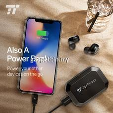 TaoTronics BH052 Wireless Earbuds + Powerbank 2in1, TT-BH052 Bluetooth 5.0 Headphones TWS True Wireless Ear Buds IPX7 Waterproof Dual Built-in Mic Earphones with 3350mAh Charging Case for 120H Extended