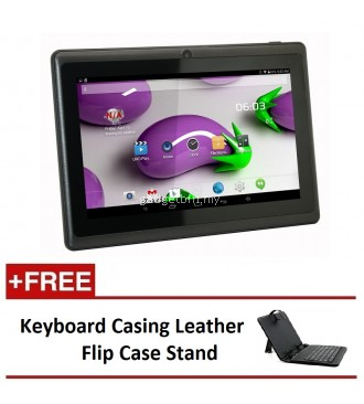 "7"" Ewing Monster A33 Quad Core 1.5gHz 8GB Bluetooth Dual Camera Android 4.4 Tablet (Black) FREE Keyboard Casing Leather Flip Case Stand"
