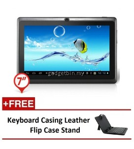 "Ewing 7"" PRO A33 Quad Core 1.5gHz Bluetooth Dual Camera Android 4.4 tablet (Black) FREE Keyboard Casing Leather Flip Case Stand"