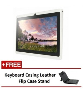 "Ewing 7"" PRO A33 Quad Core 1.5gHz Bluetooth Dual Camera Android 4.4 tablet (White) FREE Keyboard Casing Leather Flip Case Stand"