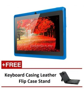 "Ewing 7"" PRO A33 Quad Core 1.5gHz Bluetooth Dual Camera Android 4.4 tablet (Blue) FREE Keyboard Casing Leather Flip Case Stand"