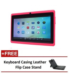 "Ewing 7"" PRO A33 Quad Core 1.5gHz Bluetooth Dual Camera Android 4.4 tablet (Pink) FREE Keyboard Casing Leather Flip Case Stand"
