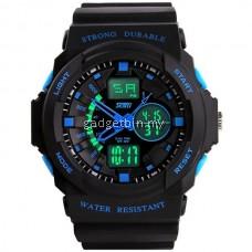 SKMEI 0955 Men's LED Analog Digital Alarm Sport Watch