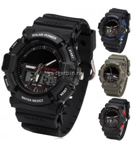 SKMEI 1050 Men's Military Solar Power LED Sports Watch
