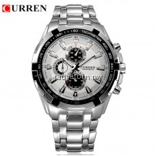 CURREN 8023 Stainless Steel Band Men's Analog Quartz Watch- 6 Colour Options