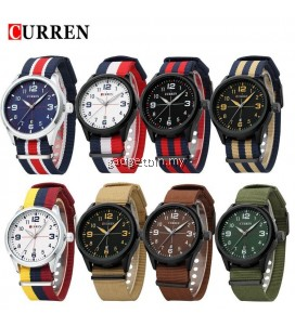 CURREN 8195 Men's Sports & Casual Nylon Strap Watches