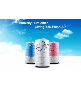 Butterfly Design Ultrasonic Humidifier Fresh Air Cleaner With No Noise (White)