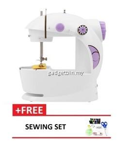 4 in 1 Mini Sewing Machine Purple FREE Sewing Set