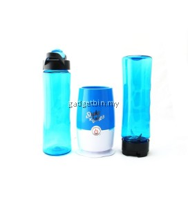 (Msia Power Plug) Shake N Take 3 Beautiful and Colorful Fruit Juice Blender With 2 Bottles (Blue)