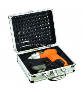 DCTOOLS 104 Pcs in 1 4.8V Cordless Electric Screwdriver Power Tools Drill Set with Aluminium Case