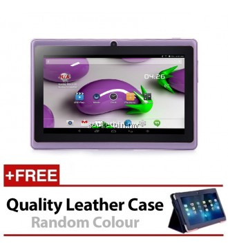 7 Inch Ewing Monster A33 Quad Core 1.5gHz 8GB Bluetooth Dual Camera Android 4.4 Tablet (Purple) FREE Leather Case