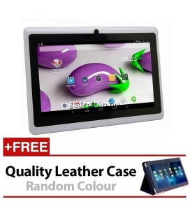 7 Inch Ewing Monster A33 Quad Core 1.5gHz 8GB Bluetooth Dual Camera Android 4.4 Tablet (White) FREE Leather Case