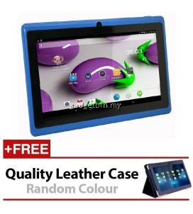 7 Inch Ewing Monster A33 Quad Core 1.5gHz 8GB Bluetooth Dual Camera Android 4.4 Tablet (Blue) FREE Leather Case