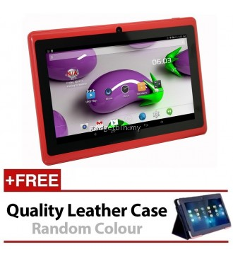 7 Inch Ewing Monster A33 Quad Core 1.5gHz 8GB Bluetooth Dual Camera Android 4.4 Tablet (Red) FREE Leather Case