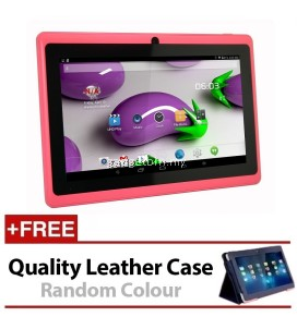7 Inch Ewing Monster A33 Quad Core 1.5gHz 8GB Bluetooth Dual Camera Android 4.4 Tablet (Pink) FREE Leather Case