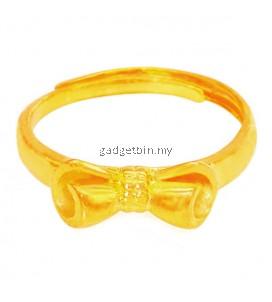 YOUNIQ Premium Ribbon 24K Gold Plated Ring