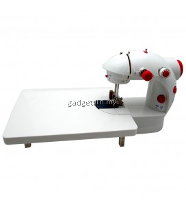 4 in 1 Dual Speed Portable Handheld Mini Sewing Machine With Expansion Board (Red)