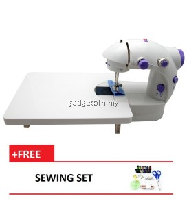 4 in 1 Dual Speed Portable Handheld Mini Sewing Machine With Expansion Board (Purple) FREE Sewing Set