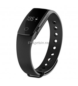 ID107 BT4.0 Heart Rate Monitor Smartband Pulse Sports Fitness Tracker for Android iOS (Black)