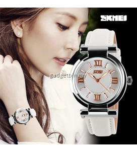 SKMEI 9075 Ladies's Fashion Elegant Genuine Leather Strap Watch