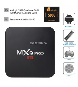 MXQ Pro 4K Amlogic S905 1G/8G Full HD 1080P Android 5.1.1 Tv Box