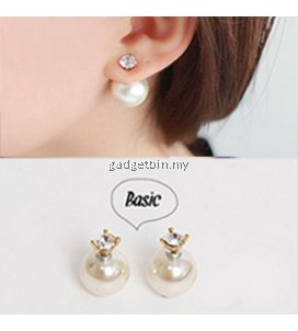 YOUNIQ-Basic Korean CZ Pearl Earring