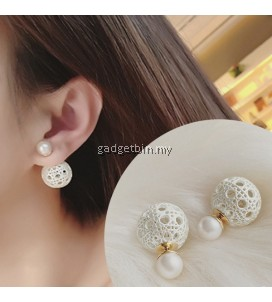 YOUNIQ-Basic Korean Openwork Pearl Earring
