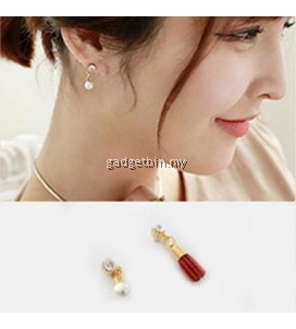 YOUNIQ-Basic Korean Wine Pearl & Tassel AB Earring