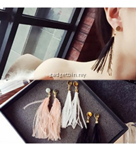 YOUNIQ-Basic Korean Fur Bi Earring- 3 color option
