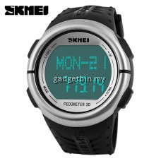 SKMEI 1058 LED Backlight Heart Rate Monitor Pedometer Sport Watch
